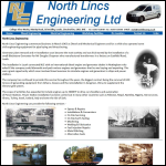 Screen shot of the North Lincs Engineering Ltd website.