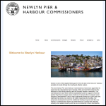Screen shot of the Newlyn Pier & Harbour Commissioners website.