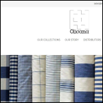 Screen shot of the Olicana Textiles Ltd website.