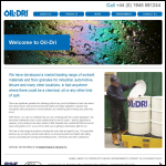 Screen shot of the Oil-Dri (UK) Ltd website.