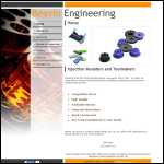 Screen shot of the Beavin Engineering Ltd website.