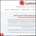 Screen shot of the Qualitetch Components Ltd website.