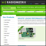 Screen shot of the Radiometrix Ltd website.