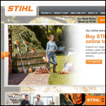Screen shot of the STIHL GB website.