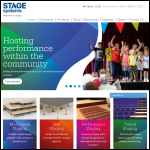 Screen shot of the Stage Systems Ltd website.