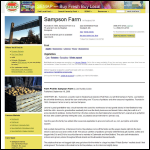 Screen shot of the Sampson Farm Consultants website.