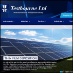 Screen shot of the Testbourne Ltd website.