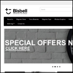 Screen shot of the Bisbell Magnetic Products Ltd website.