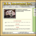 Screen shot of the BL Industrial website.