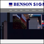 Screen shot of the Chris Benson Signs Ltd website.