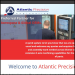 Screen shot of the Atlantic Precision Engineering Ltd website.