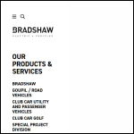Screen shot of the Bradshaw Electric Vehicles website.