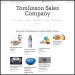 Screen shot of the Tomlinson, Alan (Plant & Sales) website.