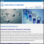 Screen shot of the B & D Clays & Chemicals Ltd website.