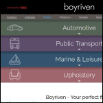 Screen shot of the Boyriven Ltd website.